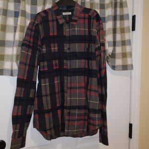 100% authentic mens burberry button down shirt